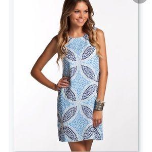 Island Company Mosaic Classic Linen Shift Dress